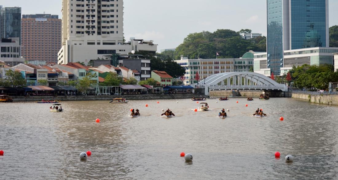 Singapore River Regatta (SRR) has a gorgeous venue in downtown Singapore.