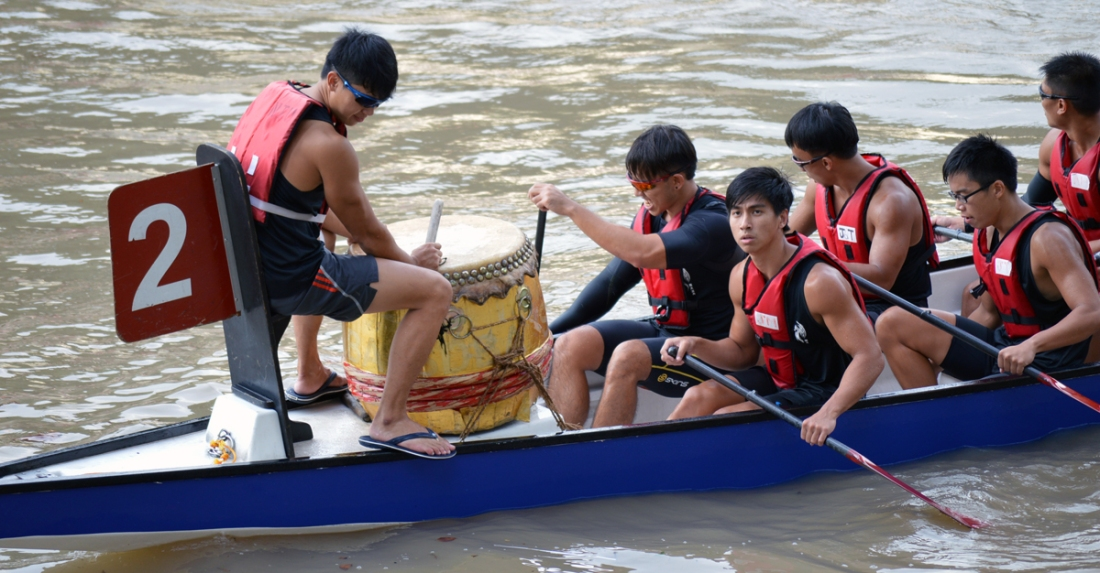 I picked dragon boating a sport because it encourages you to stay fit.