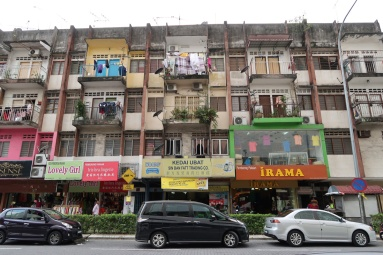 The shophouses near Hang Tuah.
