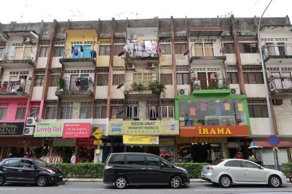 The shophouses near Hang Tuah.