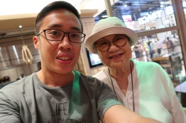 With Madam Kwan herself!