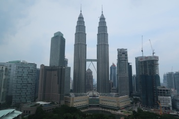 View of Petronas Towers from my hotel room at Traders.