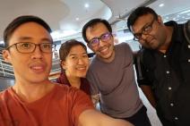 With my friend Roz, her husband Ebrahim, and friend.