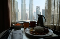 Breakfast with a view.