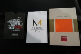 The three hotels I stayed at.