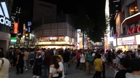 The crowds at Ximen Pedestrian Street.