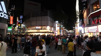 The crowds at Ximen Pedestrian Street.